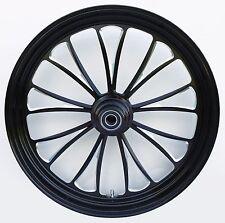 """Manhattan """"Black Cut"""" CNC 21"""" x 3.5"""" Front DD Wheel for Harley & Custom Models"""