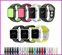 for Apple Watch Series 12 3 4 5 6 38/40/42/44mm armband silicon Sport Strap Band