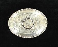 Crumrine Western Belt Buckle Texas Star Silver 3806444