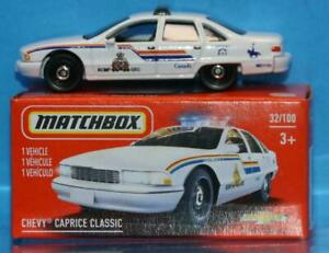 Matchbox CHEVY CAPRICE POLICE CAR CANADA Mint in Box