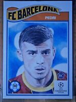 PEDRI #243  (FC BARCELONA )   TOPPS LIVING SET ROOKIE CARD 2020 UCL
