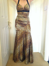Morgan & co Animal Print / Leopard print Maxi Dress Uk Size SMALL/ US size XS