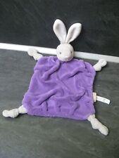 doudou lapin plume gris blanc violet kaloo état neuf