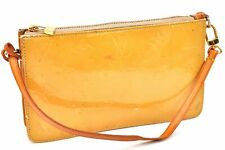 Authentic Louis Vuitton Vernis Lexington Pouch Yellow LV A2796