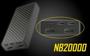 NITECOR NB20000 Quick-Charge USB/USB-C Dual Port 10000mAh Lightweight Power Bank