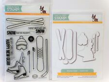 Simon Says Stamp SNOW GEAR Stamps and WINTER GEAR DIES ice sckates hockey ski