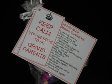 Personalised New Grandparents to Be Survival Kit and Gift Card Godparents
