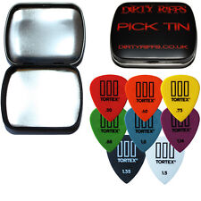 8 X Dunlop Tortex hasta Guitar Picks / plectrums - 1 de cada tamaño en un Pick Tin
