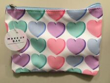 Ladies Make-up Bag. Heart pattern, cosmetic bag. Mothers Day Gift