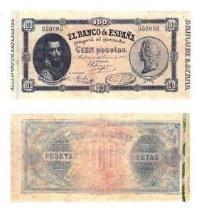 - Paper Reproduction -   Spain 100 peseta 1878    225