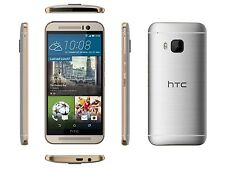 "HTC One M9 AT&T Unlocked 4G LTE 32GB 5"" Android Smartphone Gold on Silver MFR"
