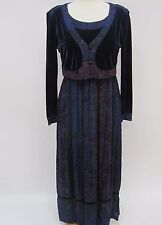 040ab00109c Vintage Carole Little Dress Size 16 Velvet Rayon Blue Purple