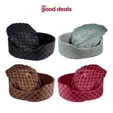 Soft Comfy Warm Round Cat Dog Puppy Kitten Fleece Pet Bed Basket Cushion Mat