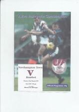 Away Teams A-B Division 1 Football Programmes with Reserves