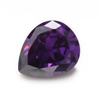 Purple Zircon 8.66ct 10x14mm Pear Faceted Cut Shape AAAAA VVS Loose Gemstone