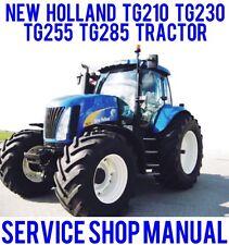BEST NEW HOLLAND TG210 TG230 TG255 TG285 TRACTORS SHOP SERVICE REPAIR MANUAL CD