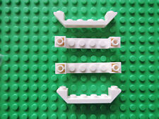 Lego 4 x Schrägstein 52501  weiß 6x1 negativ   7890 7744 7888