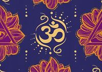 A1 | Art Poster of Purple Om Yoga Symbol 60 x 90cm 180gsm Hindu Yoga Gift#14301