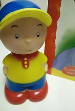 """Caillou plastic figure + softbook TV Show """"Caillou Goes Camping"""" Chouette Cinar"""