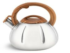 Whistling Kettle 3.5 L Stove top Induction Gas Ceramic Electric Brown Silver