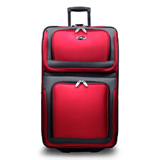 """New Yorker Red 29"""" Large Expandable Rolling Luggage Wheeled Travel Suitcase Bag"""