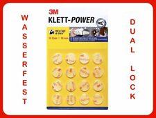 👉 3M Dual Lock 16 x RUND  Druckverschluß selbstklebend wasserfest Außen 👍