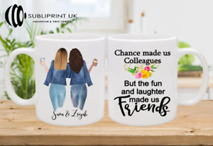 Best Friend / Sister / Cousin / Colleague Personalised Custom Mug - Two Person