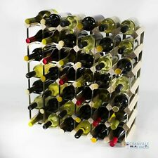 Cranville wine rack storage 42 bottle pine wood and metal wine rack self build