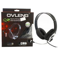 OVLENG High Quality USB 2.0 Stereo Headset Headphones with Mic for HP DEll Games