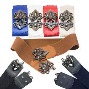 Buckle Waist Clasp Belt Fashion Elastic Cinch for Ladies Wide Stretch Waist Band