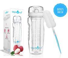 AquaFrut 32oz Fruit Infuser Water Bottle (White) with Bonus Brush! USA Seller!