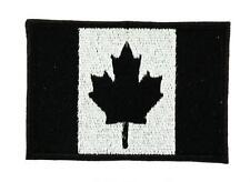 Patch écusson brodé Drapeau CANADA NOIR CANADIEN Airsoft Thermocollant Backpack