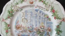 """BRAMBLY HEDGE ROYAL DOULTON CANDLELIGHT SUPPER 8"""" PLATE MIDWINTER SERIES 1ST QTY"""