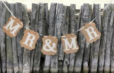 MR & MR Wedding Bunting Banner Garland Photo Props Gay Wedding Cards