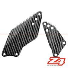 2006 2007 Kawasaki ZX-10R Rearset Foot Peg Mount Heel Guard Plates Carbon Fiber