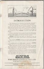 Vintage Austral Wire Fence & Gate Co. Brochure