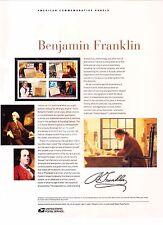USPS Commemorative Panel 761 #4021-#4024 Benjamin Franklin 300th Block/4 2006