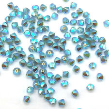 144 Swarovski 5328 Crystal XILION Bicone Beads Jewelry 4mm PACIFIC OPAL AB 2x