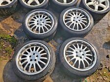 "Team Dynamics 17"" alloy wheels set 5x100 PCD Chrome"