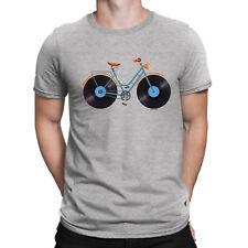 Mens Organic Cotton T-Shirt Vinyl Bicycle Lp Record Music Gift Him Cycling Bike