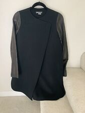 Vince Womans Coat Leather Sleeves XS