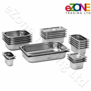 Gastronorm Pan Stainless Steel Gastro Container Tray Bain Marie Food Pot Lid