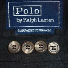 40R Polo Ralph Lauren Blue Label 100% LINEN Black Sport Coat Blazer Jacket