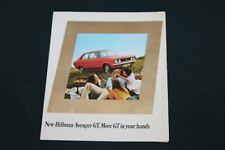 Hillman Avenger GT Sales Folder circa 1971