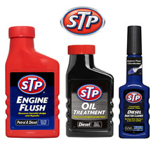 STP Engine Flush 450ml Clean Additive + Injector Cleaner & Diesel Oil Treatment
