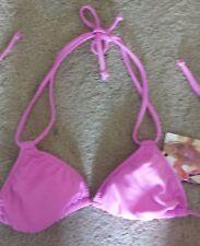 $38 Roxy Padded Logo Bikini Top NWT MEDIUM