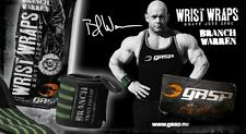 "Gasp Branch Warren WRIST WRAPS Extra Heavy Duty 18"" POWERLIFTING Bodybuilding"