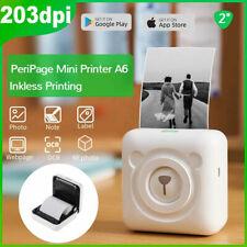 PeriPage A6 Wireless Tragbar Pocket Mini Fotodrucker Handy Thermodrucker Z4M8