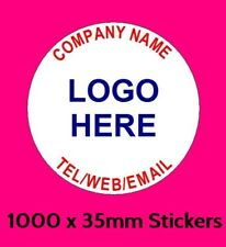 1000 x Personalised Business Name Stickers Thank You Seals Logo Labels Address