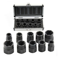 10 X Damaged Nut Bolt Remover Stud Extractor Broken Screw Removal Socket Wrench